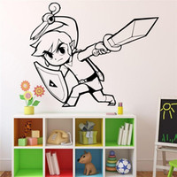 Wholesale Game Television - House Life Game Zelda Door Decorations Home Design Animals Wall Stickers Comic Posters Vinyl Decals DIY