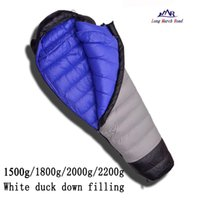 Wholesale Duck Down Filled Sleeping Bag - Wholesale- LMR ultralight comfortable duck down filling 1500g 1800g 2000g 2200g down can be spliced camping sleeping bag