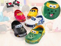 Wholesale Toddler Garden Shoes - 2017 New Kids Cartoon Shoe Super Wings Jett Mira Jerome Donnie Paul Car Shape Shoues for Baby Boy Gilrs Toddler Clogs Garden Summer Shoez