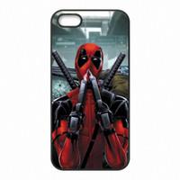 Wholesale Iphone Superhero Cases - Superhero Deadpool Phone Covers Shells Hard Plastic Cases for iPhone 4 4S 5 5S SE 5C 6 6S 7 Plus ipod touch 4 5 6
