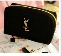 Wholesale Satin Even Bag - black Letter Embroidered make up bags FASHION BAGS COSMETIC BAG WOMEN WALLET Evening bag
