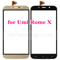 """Wholesale Smartphone Replacement Glass Screens - Wholesale-5.5""""Black Gold TP for UMI Rome X Touch Screen Digitizer Glass Panel Sensor No LCD Smartphone Replacement Free Shipping+Tools"""