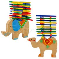 wooden toys games 2018 - Baby Toys Educational Camel   Elephant Balancing Blocks Balance Game Wooden Toys Beech Wood Montessori Blocks Gift For Child