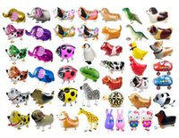 39 style Walking balloon pets Cheap Walking Animal Balloon gonflable Aluminium Walking Pet Balloon Décoration de Noël Jouets pour enfants