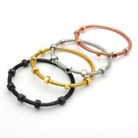 charme en fil d'or achat en gros de-Marque Vis Bracelet D'amour Titane Acier Bracelets Hommes avec 6 Vis Filet En Acier Or Rose Charme Bracelets pour Femmes et Bijoux de L'amour