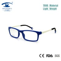 Wholesale Cool Nerd Glasses - Wholesale- Cool Kids Glasses Frames Boy Girl Rectangular Kid's Eyeglasses Nerd TR90 Flexible Children Plastic Memory Rx Lens