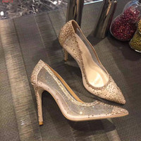 Wholesale Auger Pump - new top designers high-end customization luxury leather fashion elegant high quality Set auger women's high-heeled shoes( high-heel 10 cm)