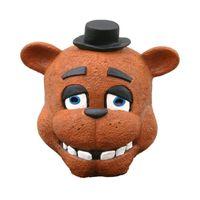 trajes de oso completo al por mayor-Cinco noches en Freddy Mascarilla facial FNAF Bonnie Chica Foxy Freddy Fazbear máscara de oso del baile de disfraces de Halloween regalo del festival