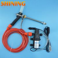 Wholesale High Pressure Washer Pumps - Wholesale- 12V 60W High Pressure Water Pump Foam Water Gun Car Washer Portable Washing Machine, Car Cleaning Device Machine+Free Gift