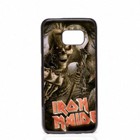 Wholesale Galaxy S4 Classic - Classic rock band Iron Maiden Phone Covers Shells Hard Plastic Cases For Samsung Galaxy S4 S5 MINI S6 S7 edge S8 S8 Plus
