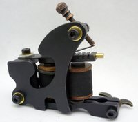 5Pcs / lot Professional Handmade Tattoo Machine 10 Wrap Coils Iron Cast Frame Custom Tattoo Gun для линейного шейдера HTM-6110