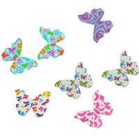 Wholesale Random Sweater - Kimter Random Mixed Butterfly Wooden Sewing Buttons With 2 Holes 28x20.8mm For Craft And Card Projects Knitted Sweaters Pack Of 50pcs I575L