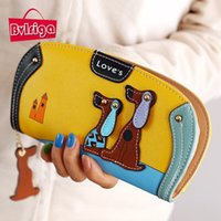 Wholesale Ladies Purse Price - BVLRIGA Cartoon dog women purse bag designer wallets famous brand women wallet long money clip dollar price zipper coin pockets