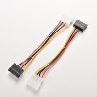 жесткий кабель оптовых-Wholesale- 2pcs IDE to Serial ATA SATA Hard Drive Power Adapter Cable IDE to SATA Power Cable extenders wholesale