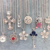 colar de pedra gato venda por atacado-Olho de gato strass Sweater Cadeia de pedra Colares Jóias Cruz Flower Gem coruja longo colar de cristal para mulheres Presente de Natal