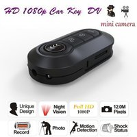 Wholesale Remote Control Car Key Spy - HD 1080P IR Night Vision Car Key Hidden Camera DVR Remote Control Spy Video Recorder Motion Detection Portable Camcorder