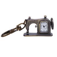 makine yerleştirme toptan satış-Kolye masa ekle asmak çanta Eski cep saati toptan hediye masa yaratıcı saat dikiş makinesi