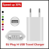Wholesale European Travel Usb - Colorful EU Plug I4 USB Travel Chargers Home Wall Charging AC Power European Adapters For iPhone 5s Samsung Note3 Blackberry