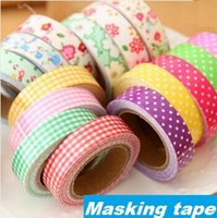 Wholesale Cotton Masking Tape - Wholesale- 2016 1pcs lot Cotton Adhesive tape masking Japanese tape Decorative tape Scrapbooking sticky Stationery School supplies