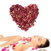 Wholesale Rose Petal Soap Red - Wholesale- Natural Red Rose Dried Petals Buds 100% Organic Bath Soap Spa From China Yunnan Great Gift