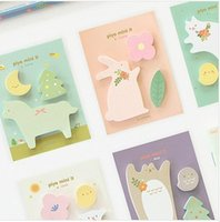 Wholesale Post Note Pads Design - Wholesale- Free Shipping Korea Stationery cute Multicolor animal design mini message post Memo pad 5 Pcs 1 lot wholesale diy funny gift