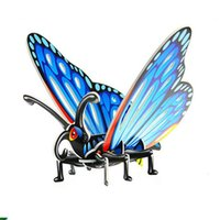 New Animal Puzzle Butterfly Grasshopper Wasp Beetle 4 Styles Mix Puzzle Toys DIY 3D Tridimensionnel Jigsaw Intelligence Toys Wholesale