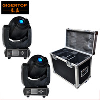 Wholesale moving faces - Flightcase 2in1 For 2XLOT 90W Gobo LED Moving Head Light 3 Face Prism With LCD Display DMX Controller 6 15 Channel High Quality 100V-220V