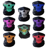 Wholesale Outdoor Seamless Versatile Magic Skull Scarf Face Mask Scarf Cycling Riding Masks Warm Neckerchief Halloween Costumes