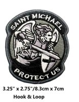 Wholesale Military Patch Wholesalers - PROTECT US SAINT MICHAEL SWAT TACTICAL BADGE MORALE MILITARY PATCHES Hook & Loop Patch tv moive series badge for clothing