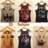 Wholesale New Models For Shirts Men - Wholesale- 2016 New Style Men T shirt Mens O-neck Fashion Vest 3D Cotton T shirt ,3D Printed T-shirts For Man 9 Model