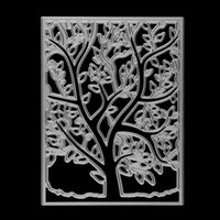spring tree craft - Spring Tree Pattern Frame Ectangle Embossing Cutting Dies Stencil DIY Scrapbooking Album Cards Paper Decor Metal Craft