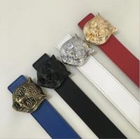 Wholesale tigers belt - Brand designer belt mens senior tiger head belts new fashion casual cowhide belts for men waist belts