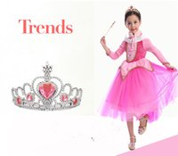 Wholesale Crowns Tiaras Kids Plastic - TOP Designer Princess Crown Hairbands Kids For Girls Best Birthday Gift Children Hair Clip Magic Wand Sets Jewelry