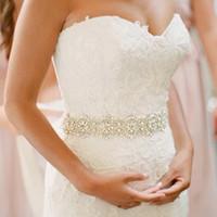 Wholesale Nail Drill Diamond - Luxury bridal belt wedding belt with clothes girdle diamond drill hand nail drill wedding jewelry industry,wedding Sashes 2017