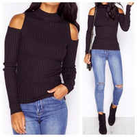 Wholesale Plus Size Off Shoulder Sweater - Oversized sweater women pullover sweaters female ladies coat outerwear plus size tops fashionable sweaters top pullovers ONY11