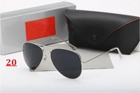 Wholesale Color Pc Case - 2017 High quality sunglasses brand designer fashion New 58MM sunglass Mens Womens sun glasses For box And case Free Shipping!