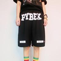 6bb4495598a Venta al por mayor-Moda 2016 Summer Pyrex Shorts hombres para hombre  Tablero de hip hop de compresión informal Pantalones cortos negros sueltos