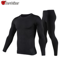 Wholesale Thermo Underwear Set - HEROBIKER Mens Motorcycle Riding Quick dry Clothing, Winter Thermo Underwear Soft Comfortable Stretch Long Sleeve ,T001