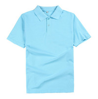 Wholesale Fund Pink - Vogue of new fund of 2017 pure color cotton custom POLO men work clothes Short sleeve lapel t-shirts wholesale high quality