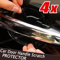 4 pcs Car Door Handle Paint Scratch Protector Stickers Transparent Film Vinyl