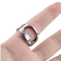 Wholesale novelty beers - 2017 New Summer Style Novelty Design Cool Gadgets Stainless Steel Finger Ring Ring-Shape Beer Bottle Opener Home Kitchen Tools