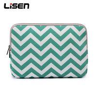 Wholesale Blue Macbook Pro - Wave pattern Notebook Laptop Sleeve Case Carry Bag Ipad case bag-blue