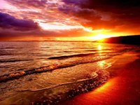 Wholesale Paintings Beach Sunsets - New diy diamond painting cross stitch kits resin pasted painting full square drill needlework Mosaic Home Decor scenery Sunset Beach zf0008