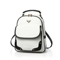 Wholesale Mini Pocket Book - Wholesale- fashion designer women backpack girl school pu leather shoulder bag of famous brand cute white mini black book bags female bolsa