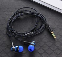 Wholesale Mp3 Mp4 Earbuds - Wholesale New Colorful Braided wireg 3.5mm Stereo In-ear Earbuds Earphone for MP3 MP4 Mobile Phone