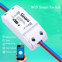 Wholesale Wireless Switch Module - Wholesale- Sonoff Smart Home Remote Controller Wireless Universal Switch Module Timer Wifi Switch Smart Home Controller Support IOS Android