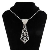rhinestone-diamant-damen gürtel großhandel-2017 sexy diamant verbund krawatte halskette bauchkette herz strass halsreifen krawatte und gürtel dame online 3 stücke freies verschiffen