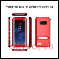 prueba de agua de la nota al por mayor-Para Samsung Galaxy Note 9 8 S8 Plus s7 edge iphone 8 X 6S 7 Plus Funda impermeable Redpepper Soporte a prueba de agua