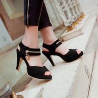 Wholesale Summer Shoes Sandals Platform Style - Wholesale-Ladies Shoes Top Limited Big Plus Size 34-43 Shoes Women Sandals 2016 Platform Sapato Feminino Summer Style Chaussure Femme 513
