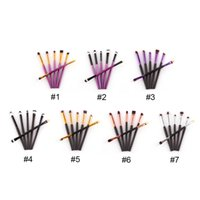 Wholesale wooden pencils set - Eyebrow Pencil Brush Eyelashes Eyes Cosmetic Makeup Brushes Tools Wooden Handle New fashion design 6pc sets Brand new high quality
